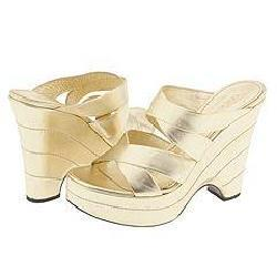 Casadei 5839 Sahara Nappa Silk from Overstock.com :  wedge criss cross gold metallic