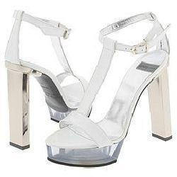 DAVIS by Ruthie Davis Pavillion White Chic Patent Leather from Overstock.com