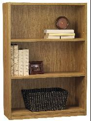 Wood 3-shelf Bookcase