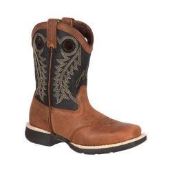 Children's Durango Boot DBT0144 8in Lil' Durango Big Kid Saddle Boot Tan/Black Leather 17718979