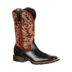 Men's Durango Boot DDB0081 12in Mustang Western Square Toe Boot Black/Brown Leather