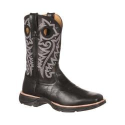 Women's Durango Boot DRD0108 10in Ramped-Up Lady Rebel Western Boot Black/Black Leather
