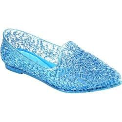 Women's Beston Bianca-01 Flat Blue PVC