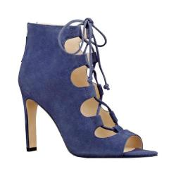 Women's Nine West Unfrgetabl Lace Up Sandal Navy Suede