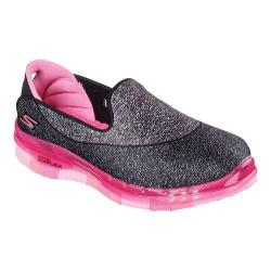 Girls' Skechers GO FLEX Walk Slip On Black/Hot Pink