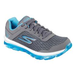 Women's Skechers GOair Lace Up Shoe Charcoal/Blue