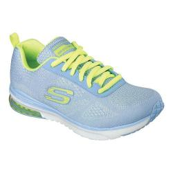 Women's Skechers Skech-Air Infinity Training Shoe Light Blue/Yellow 17887882