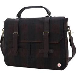 Token Waxed Cortelyou Bag Plaid/Dark Brown