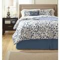 Signature Designs by Ashley Electric Floral Blue 5-piece Comforter Set