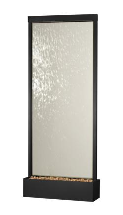 8' Waterfall Grande by Bluworld, Black Onyx Frame w/ Clear Glass