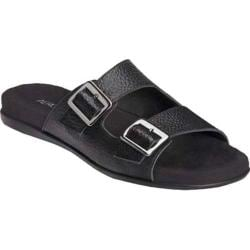 Women's Aerosoles Disco Music Slide Sandal Black Leather