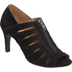 Women's Aerosoles Lambada Peep Toe Heel Black Suede