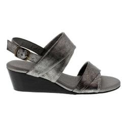 Women's Rose Petals by Walking Cradles Nimble Wedge Sandal Gunmetal Leather