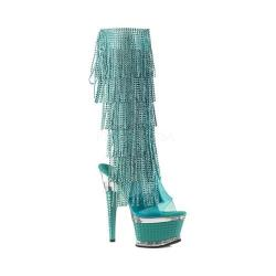 Women's Pleaser Illusion 2017RSF Boot Aqua Tinted TPU/Aqua/Aqua