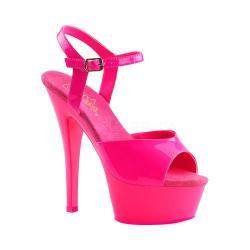 Women's Pleaser Kiss 209UV Heel Neon Hot Pink/Hot Pink