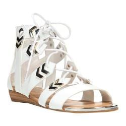 Women's Fergie Footwear Trisha Gladiator Sandal White Synthetic Leather