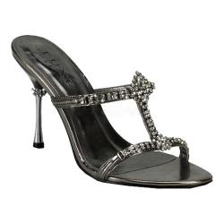 Women's Pleaser Jewel 04 Pewter Metallic PU