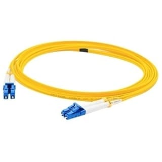 AddOn 25m Single-Mode Fiber (SMF) Duplex LC/LC OS1 Yellow Patch Cable