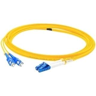 AddOn 50m Single-Mode Fiber (SMF) Duplex SC/LC OS1 Yellow Patch Cable
