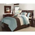 Essex Blue and Brown 8-piece Comforter Set