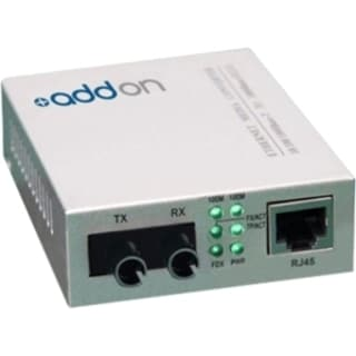 AddOn 10/100Base-TX(RJ-45) to 100Base-FX(ST) MMF 1310nm 2km Media Con 15356857