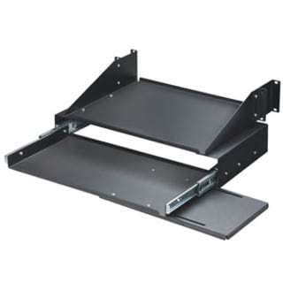 "Black Box RM028 19"" Keyboard Tray with Monitor Shelf"