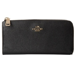 Coach Embossed Leather Slim Zip Wallet