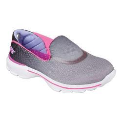 Girls' Skechers GOwalk 3 Slip On Black/Hot Pink