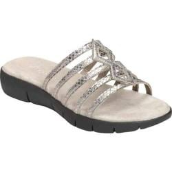 Women's Aerosoles Summer Wip Silver Snake Faux Leather