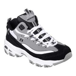 Women's Skechers D'Lites D'Liteful Lace Up Shoe Black/White/Grey