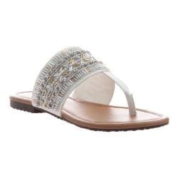Women's Madeline Blonde Thong Sandal White Synthetic
