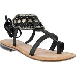 Women's Azura Esther Beaded Sandal Black Leather