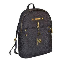 Women's Adrienne Vittadini 15in Quilted Nylon Fashion Backpack Black