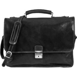 Alberto Bellucci Torino Italian Leather Briefcase Black