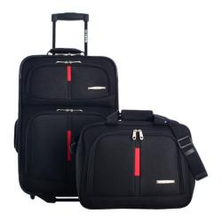 Olympia Manchester 3-Piece Carry-On Travel Set Black