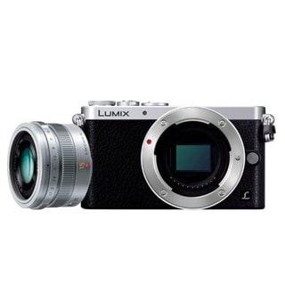 Panasonic LUMIX DMC-GM1 Compact System Camera (Silver) w/ LUMIX G Leica DG Summilux 15mm f/1.7 Silver Lens