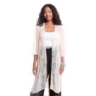 Hadari Women's Sheer Lace Kimono