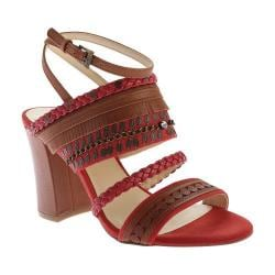 Women's Nine West Baebee Ankle Strap Sandal Red Multi Fabric