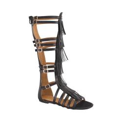 Women's Wild Diva Savannah-3-FE Gladiator Sandal Black Faux Leather