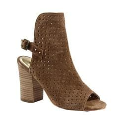 Women's Diba True Its A Wrap Open Toe Bootie Cognac Suede