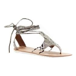 Women's Diba True This N That Ankle Strap Thong Sandal Beige Snake Leather