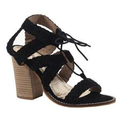 Women's Diba True Tradin Up Lace Up Sandal Black Suede