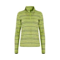 Women's tasc Performance Sideline 1/4-Zip Limeade/Deep Blue Sea Dash Stripe