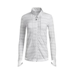 Women's tasc Performance Unstoppable Jacket White/Pale Gray Dash Stripe