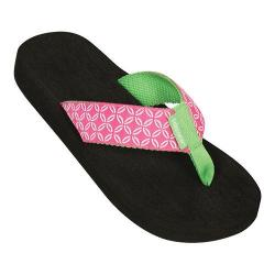 Girls' Tidewater Sandals Pink Buoy Flip Flop Pink/Green