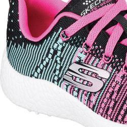 Girls' Skechers Burst Ellipse Athletic Shoe Black/Blue/Pnk