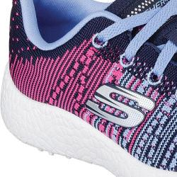 Girls' Skechers Burst Ellipse Athletic Shoe Navy/Hot Pink