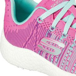 Girls' Skechers Burst Ellipse Athletic Shoe Neon Pink/Turquoise