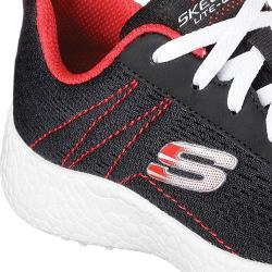 Boys' Skechers Burst Second Wind Sneaker Black/Red