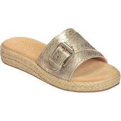 Women's Aerosoles Glorify Slide Sandal Gold Snake Faux Leather